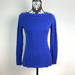 Polo Ralph Lauren Womens sz M Blue sweater